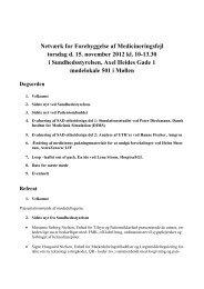 Referat af 10. møde i Netværk for Forebyggelse af Medicineringsfejl