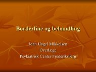 Borderline og behandling - Region Hovedstadens Psykiatri