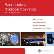 "Elsparefondens ""Lysdioder til belysning"" - Dansk Center for Lys"