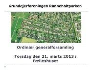 7. Præsentation af budget for 2013 - Rønneholtparkens Hjemmeside