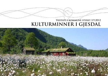 KULTURMINNER I GJESDAL - Gjesdal kommune