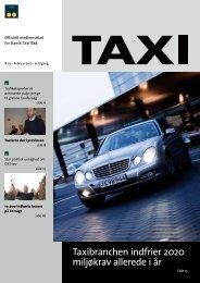 Taxibranchen indfrier 2020 miljøkrav allerede i år - Dansk Taxi Råd