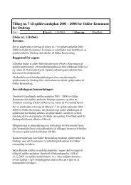 Tillæg nr. 7 til spildevandsplan 2001 - 2008 for Odder Kommune for ...