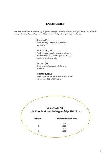 Hent PDF med Produktdata - Dansk Dekor-Laminat A/S