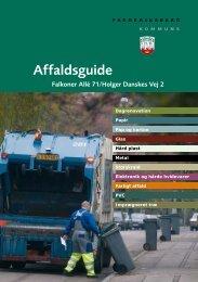 Affaldsguide - Frøbels Allé 1-7 / Ewaldsensvej 8-12