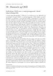Kapitel 39. Danmark og CSCE - DIIS
