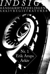Erik Arups Arkiv - Det Kongelige Bibliotek