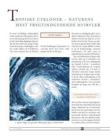 Tropiske cykloner - naturens mest frygtindgydende hvirvler - DMI