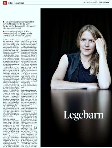 Tilde Bjerregaard Profile - noir