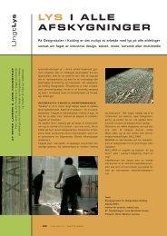 Ly s LYS I ALLE AFSKYGNINGER - Dansk Center for Lys