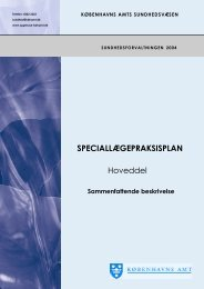 SPECIALLÆGEPRAKSISPLAN Hoveddel - K?benhavns Amt