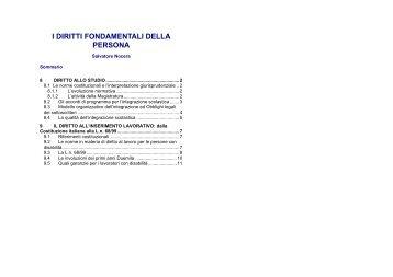 DIRITTI FONDAMENTALI DELLA PERSONA ... - Arterapiaonlus.it