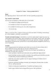 Årsplan for 3. klasse – Natur og teknik 2012-13 ... - Al Salam Skolen