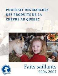 Portrait des marchés des produits de la chèvre - Agri-Réseau