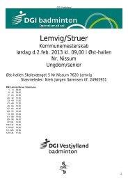 Kommunemesterskab Struer/Lemvig 2013 - Hjerm FIF