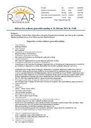 Referat fra ordinær generalforsamling d. 10. februar 2011 ... - BK Roar