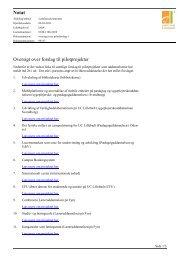 Notat Oversigt over forslag til pilotprojekter - University College ...