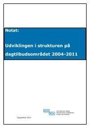 Notat: Udviklingen i strukturen på dagtilbudsområdet 2004-2011
