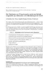 Der Nachweis von Pneumocystis carinii als Notfall- diagnostik aus ...