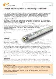 Valg af belysning i køle- og frostrum og i kølemøbler - Energitjenesten