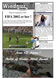 FIFA 2002 er her ! Årets 3D shooter ? Medal of Honor: Allied ... - DaMat