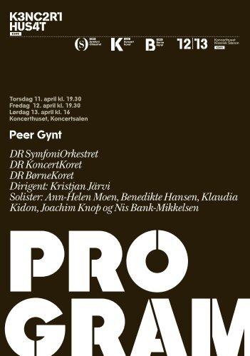 Her kan du hente programmet til Griegs Peer Gynt - DR