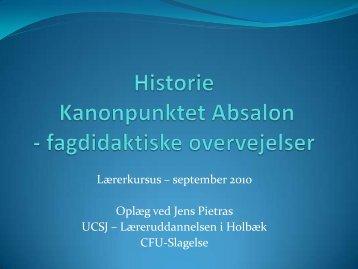 Historie – Kanonpunktet Absalon