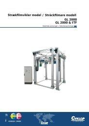 Strækfilmvikler model / Sträckfilmare modell GL 2000 & ITF GL 2000