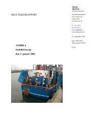 ANDREA - stabilitetssvigt den 3. januar 2001 - Søfartsstyrelsen