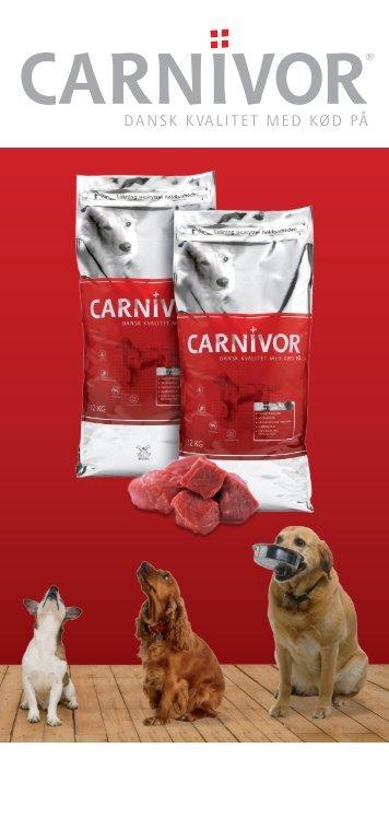 Brochure Carnivor voksen hundefoder - Hornsyld Købmandsgaard A/S