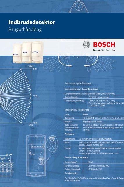 Indbrudsdetektor - Bosch Security Systems