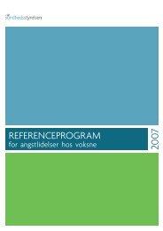 Referenceprogram for angstlidelser hos voksne - Sundhedsstyrelsen