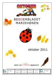 BEBOERBLADET MARIEHØNEN oktober 2011 - Mariehjemmene