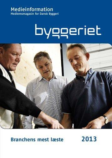 Se medieplan for 2013 - Dansk Byggeri