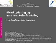 Se Erling Vestergaards præsentation her - IP-bloggen - Patent- og ...
