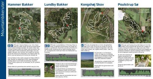 Folder om mountainbikeruter i Aalborg Kommune