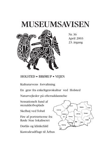 Museumsavisen nr. 36 april 2003 - Egnsmuseet på Sønderskov