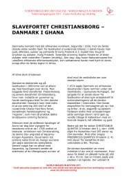 slavefortet christiansborg – danmark i ghana - Center for Kultur og ...
