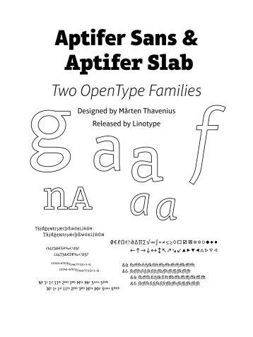 Download Aptifer Booklet - Fontcaster
