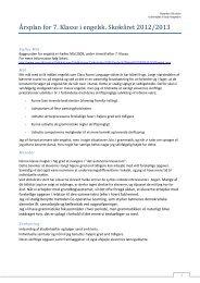 Årsplan engelsk 7. klasse 2012-2013.pdf - Ryparken Lille Skole