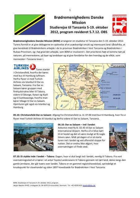 Brødremenighedens Danske Mission Studierejse til Tanzania 5-19 ...