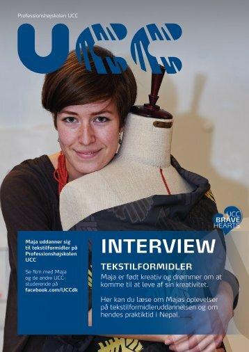 Læs hele interviewet med Maja - Professionshøjskolen UCC