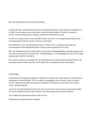 Mål og indhold for SFO - Ejsing Skole
