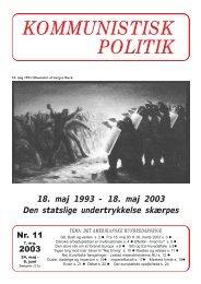 Kommunistisk Politik 11, 2003