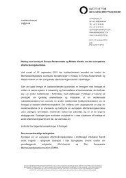 Høring over forslag til Europa-Parlamentets og Rådets direktiv om ...