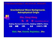 Gravitational Wave Background: Astrophysical Origin Zhu, Zong ...