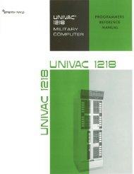 U UNIVAC 1218 - Bitsavers