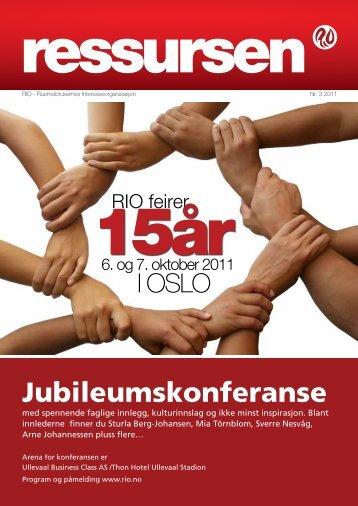 Ressursen 3 2011 - Rusmisbrukernes Interesseorganisasjon