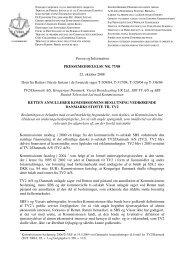 Presse og Information PRESSEMEDDELELSE NR. 77/08 22 ...