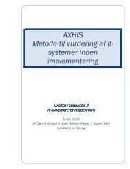 AXHIS Metode til vurdering af it- systemer inden implementering